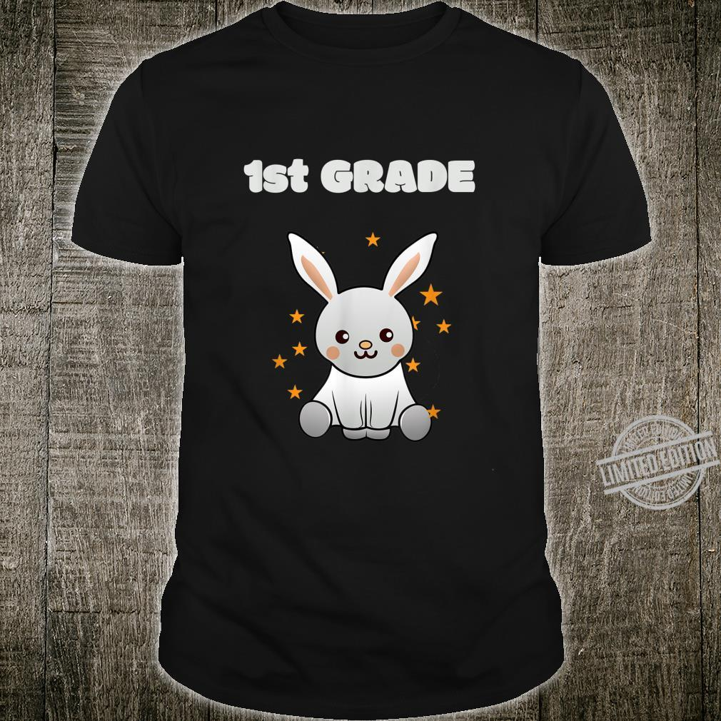 1st class back to school, schooling Bunny with Stars Shirt