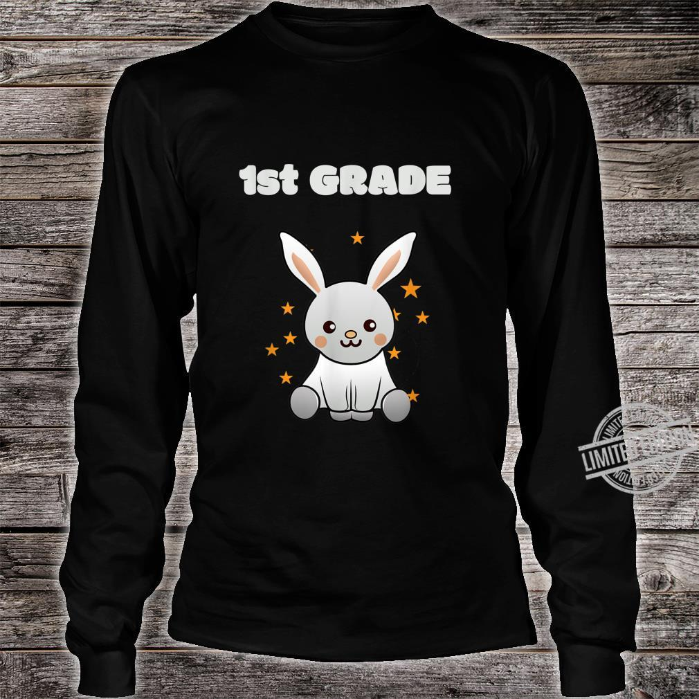 1st class back to school, schooling Bunny with Stars Shirt long sleeved