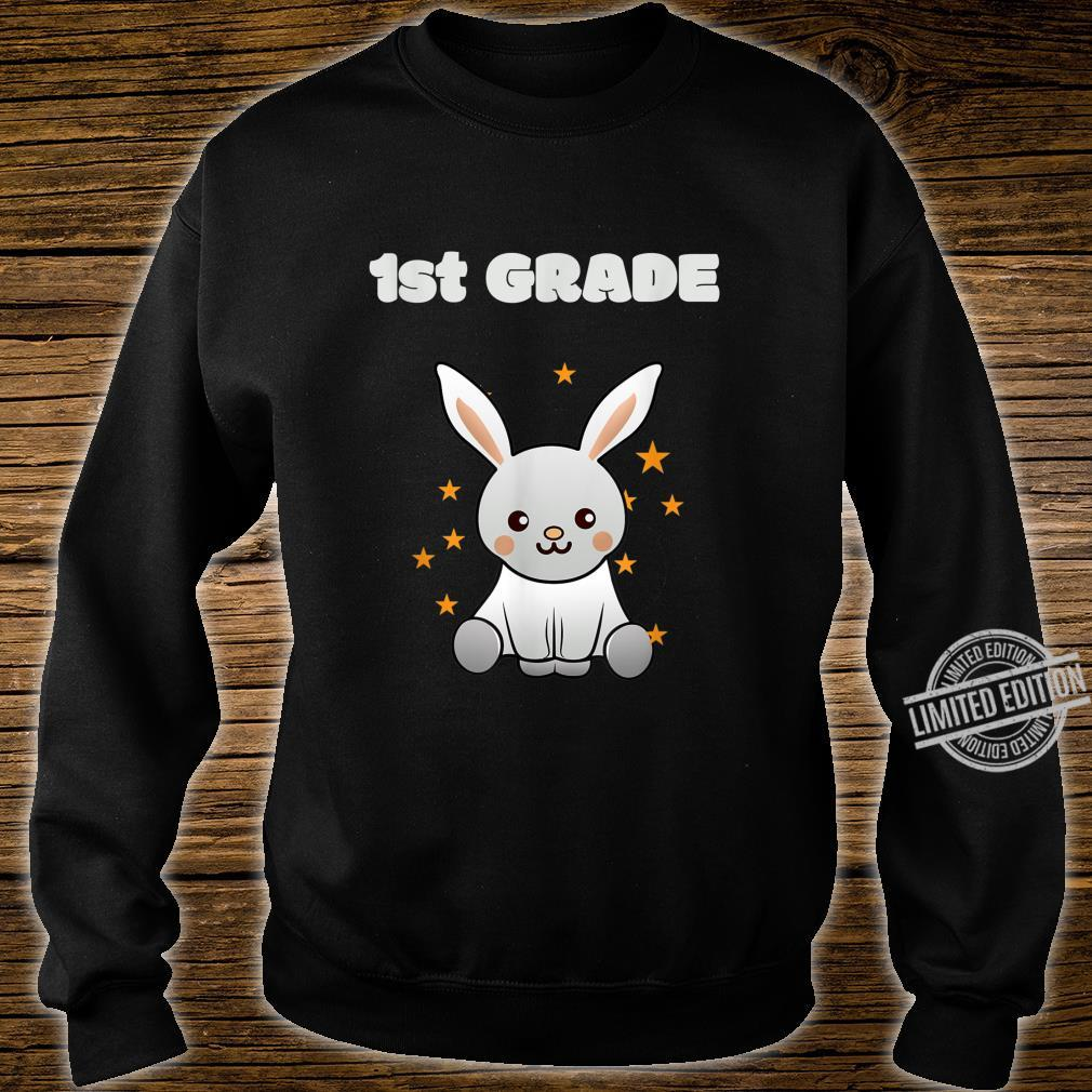 1st class back to school, schooling Bunny with Stars Shirt sweater