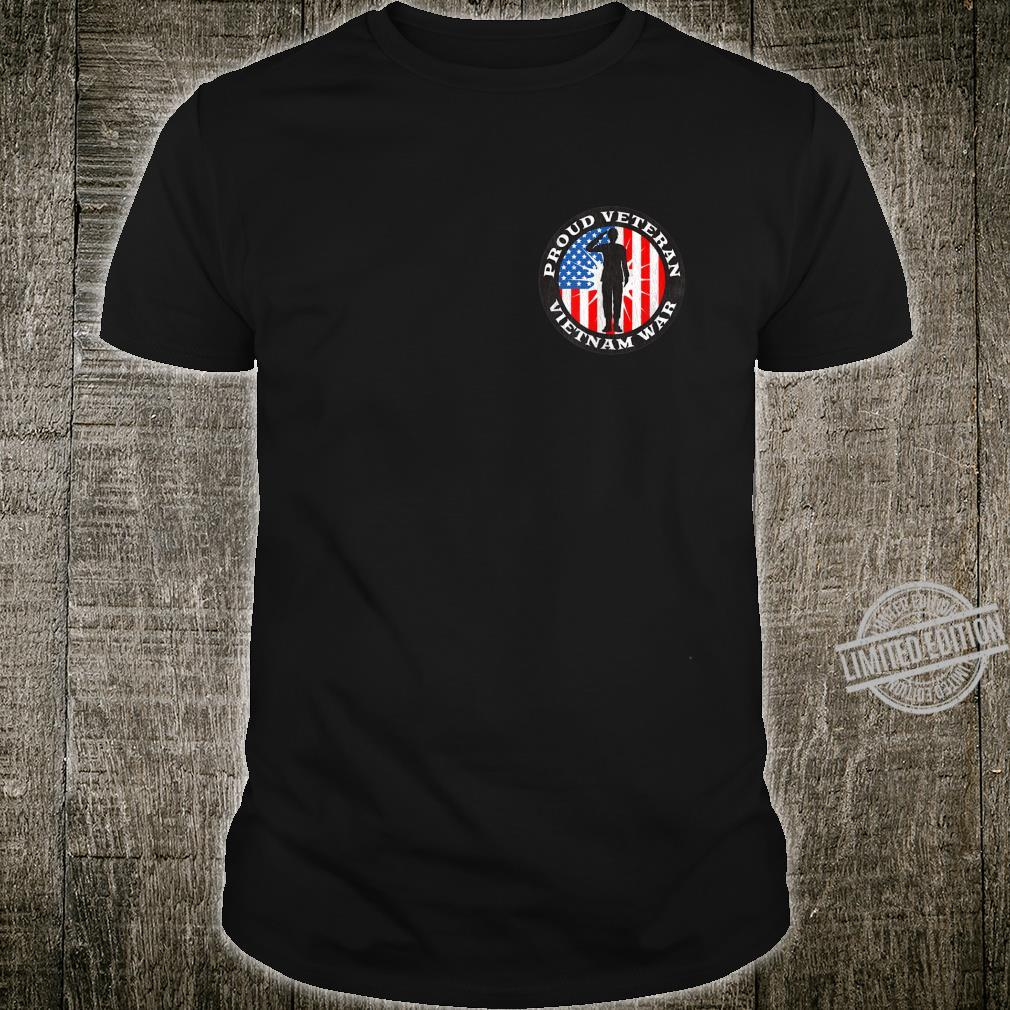 2 Sided Print Proud Veteran Vietnam War US Military Shirt