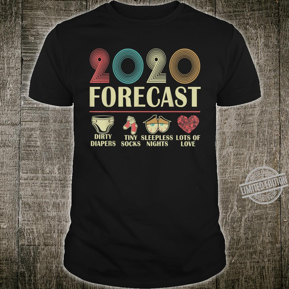 2020 Forecast Funny Expecting Baby Announcement Quotes Shirt