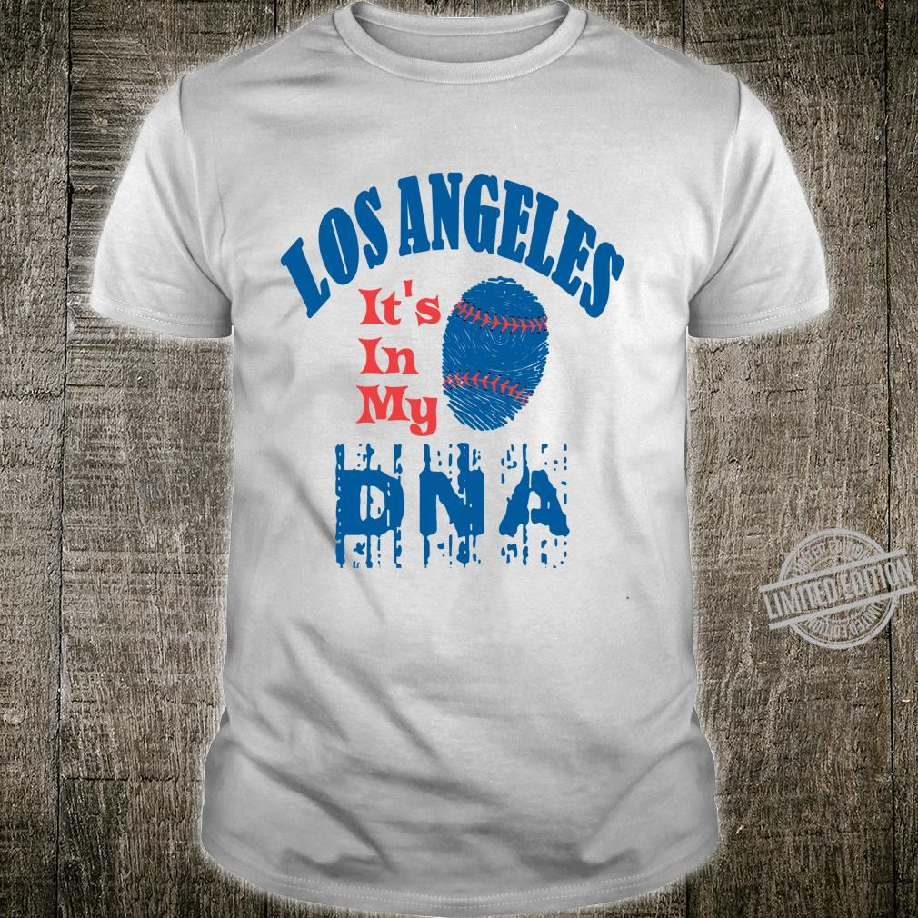 2020 It's In My DNA Los Angeles Distressed LA Baseball Shirt