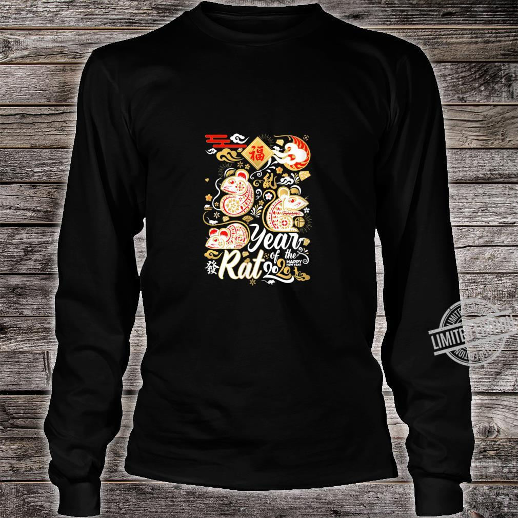 2020 Year of the Rat Happy New Year Shirt long sleeved
