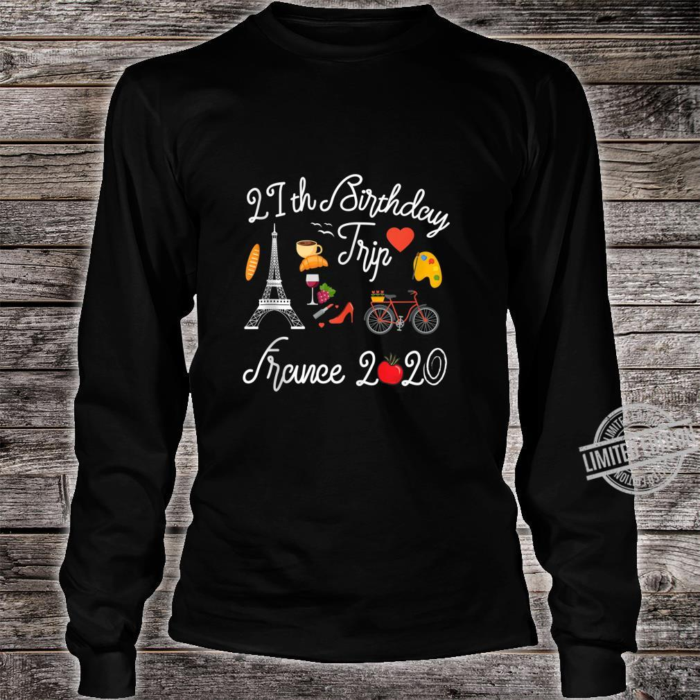 21st Birthday Trip Vacation France Paris 2020 Shirt long sleeved