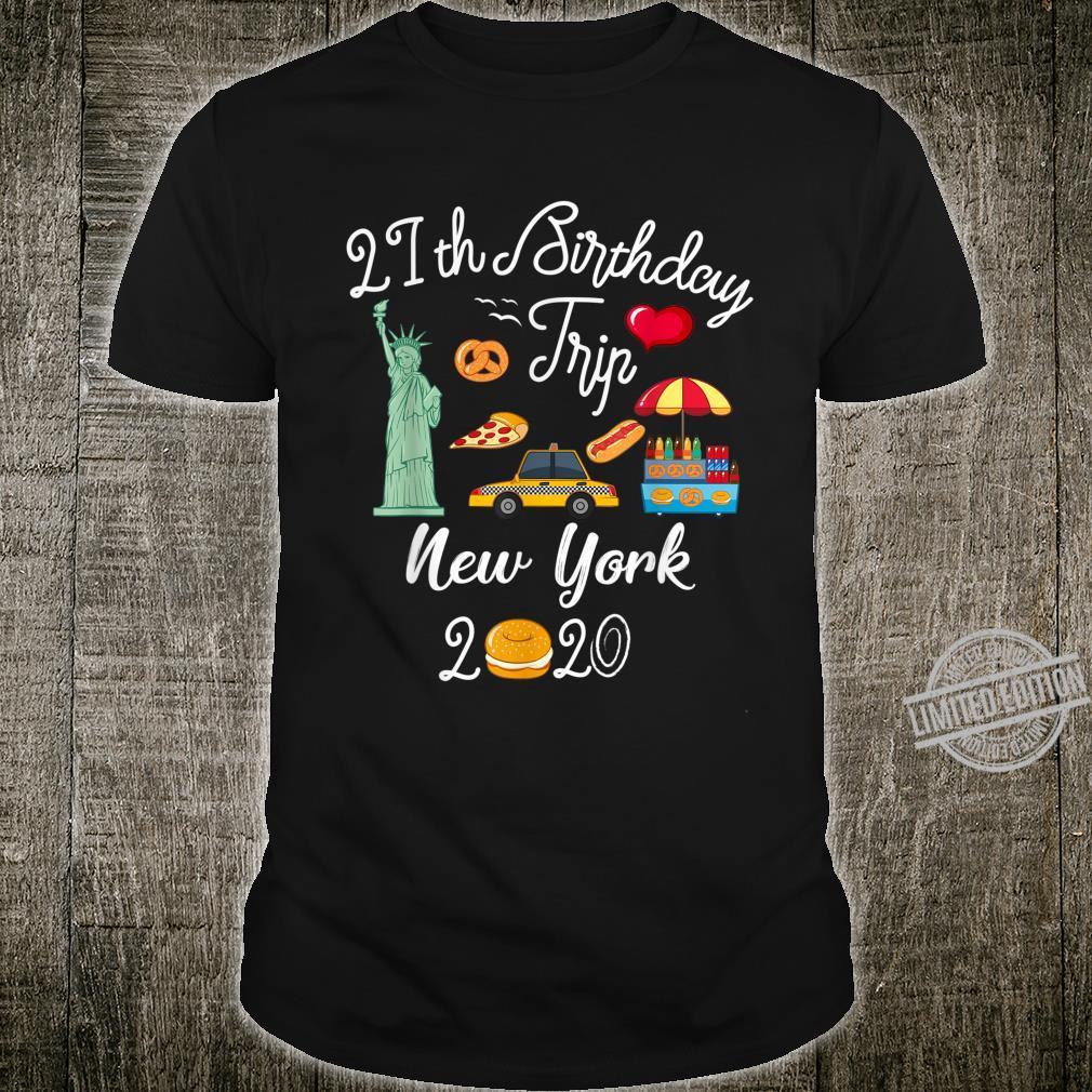 21st Birthday Vacation Trip New York City Shirt