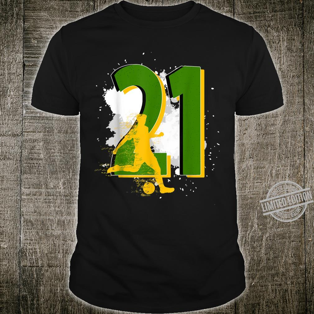 21th Birthday Soccer Player Awesome Born 1999 Shirt