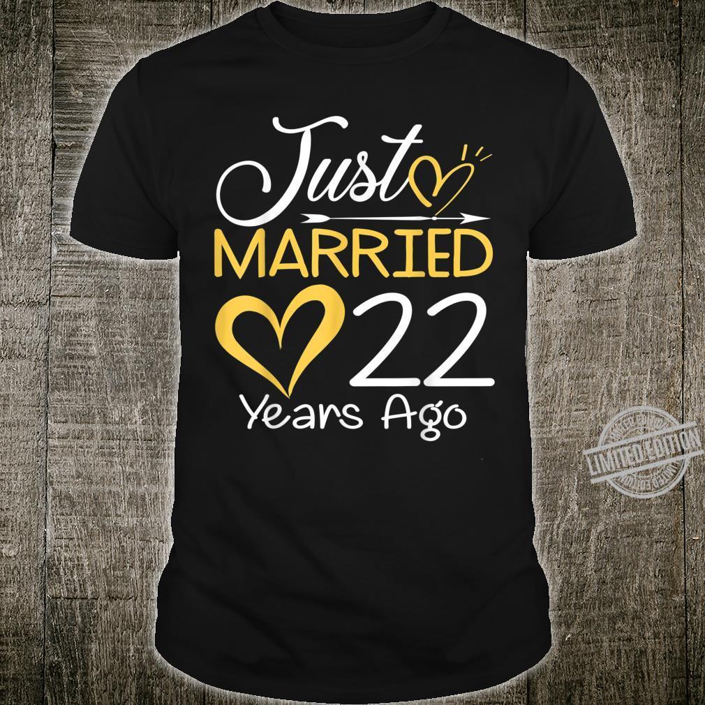 22nd Wedding Anniversary Just Married 22 Years Shirt