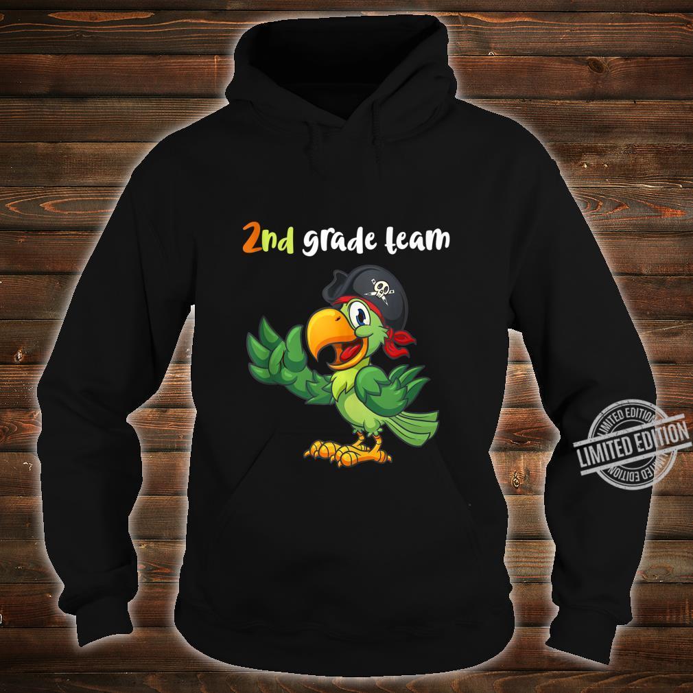 2nd Grade Team Second Grade Teacher Student Cute Parrot Shirt hoodie