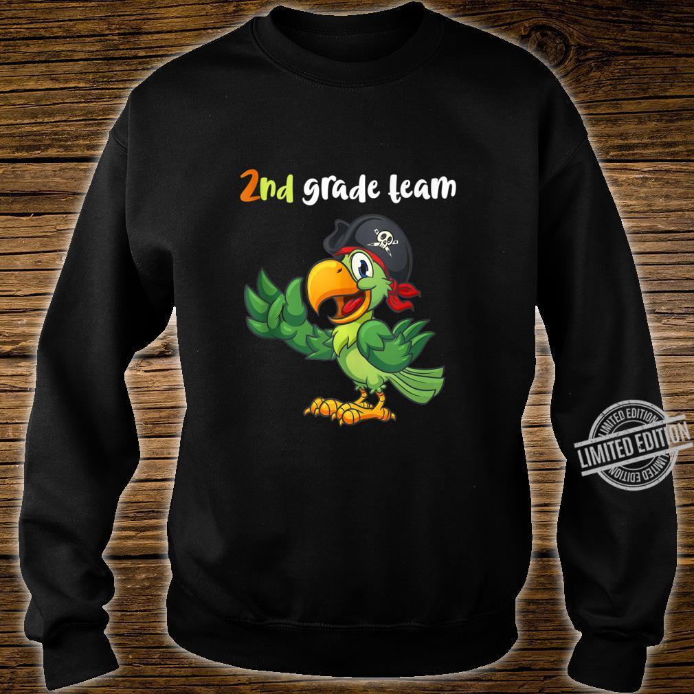 2nd Grade Team Second Grade Teacher Student Cute Parrot Shirt sweater
