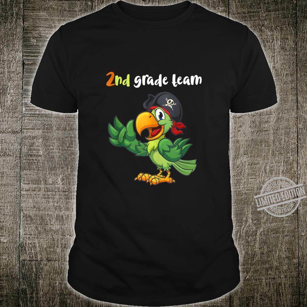 2nd Grade Team Second Grade Teacher Student Cute Parrot Shirt