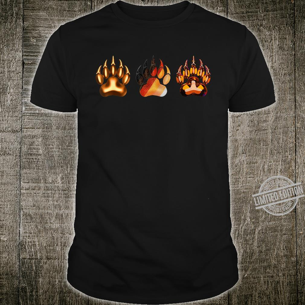 3 Bear footprints symbol of gay bear flag of LGBTQ+ Shirt