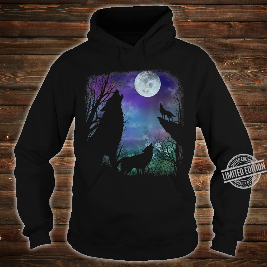 3 howling wolf in Full moon n Youth Shirt hoodie