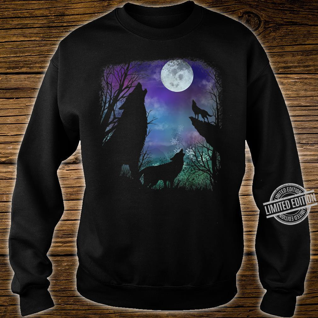 3 howling wolf in Full moon n Youth Shirt sweater