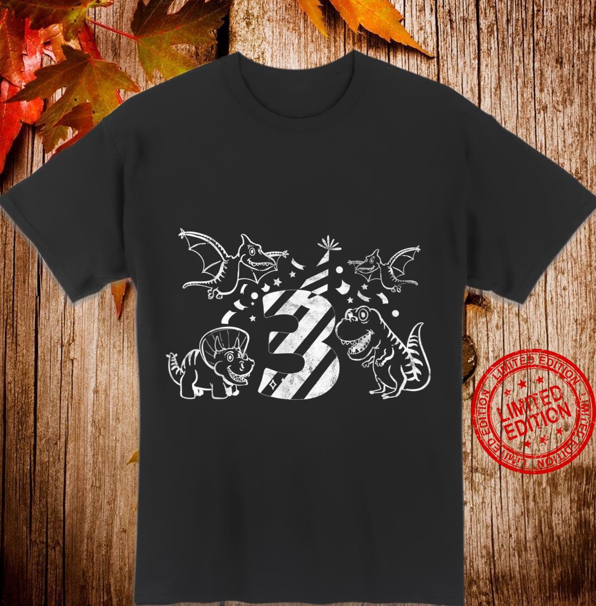 3. Geburtstag 3 Jahre Dinosaurier Dino GeschenkTShirt Shirt