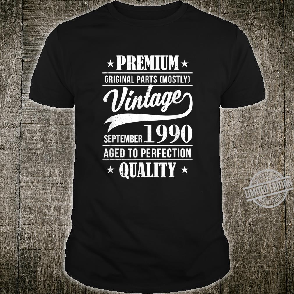 30 Mann Perfektion September 1990 30. Geburtstag Shirt