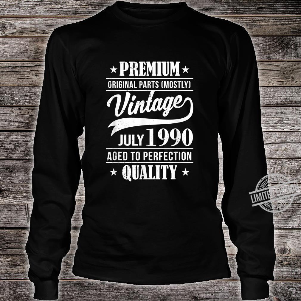 30 Mann Quality Juli 1990 30. Geburtstag Shirt long sleeved