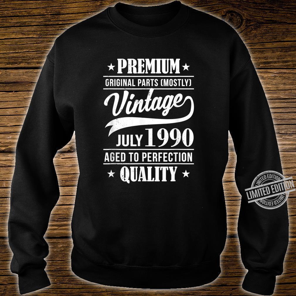 30 Mann Quality Juli 1990 30. Geburtstag Shirt sweater