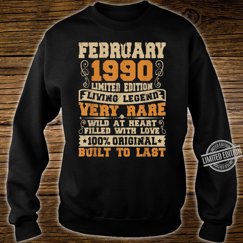 30th Birthday 30 Years Old Retro Vintage February 1990 Shirt sweater