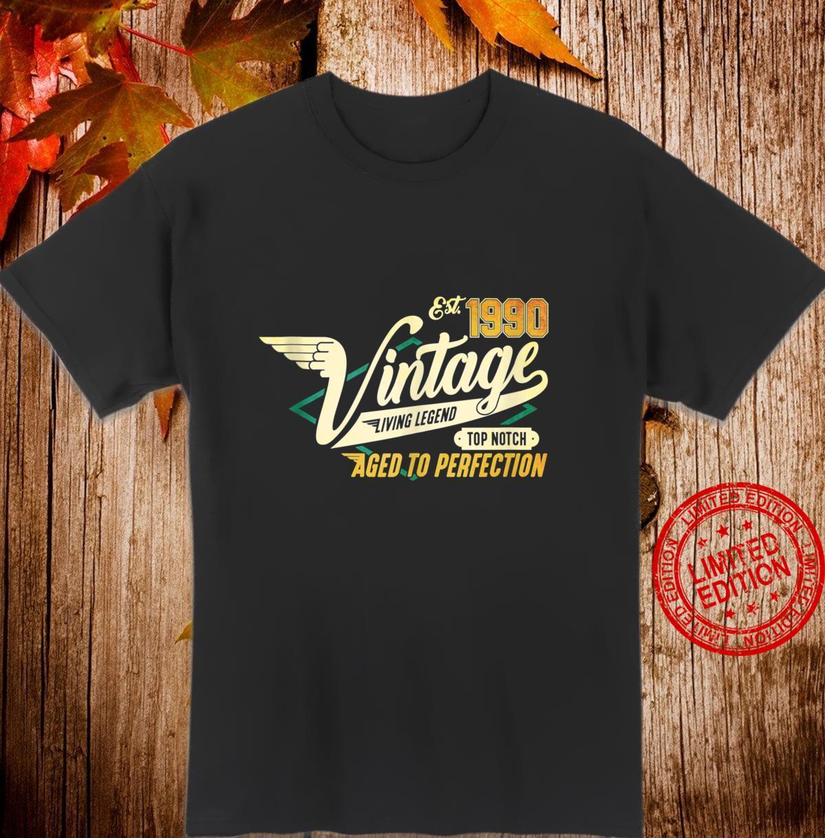 30th Birthday 30 years Vintage 1990 Shirt