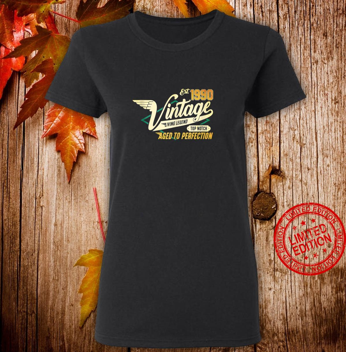 30th Birthday 30 years Vintage 1990 Shirt ladies tee