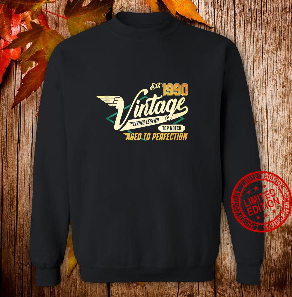 30th Birthday 30 years Vintage 1990 Shirt sweater
