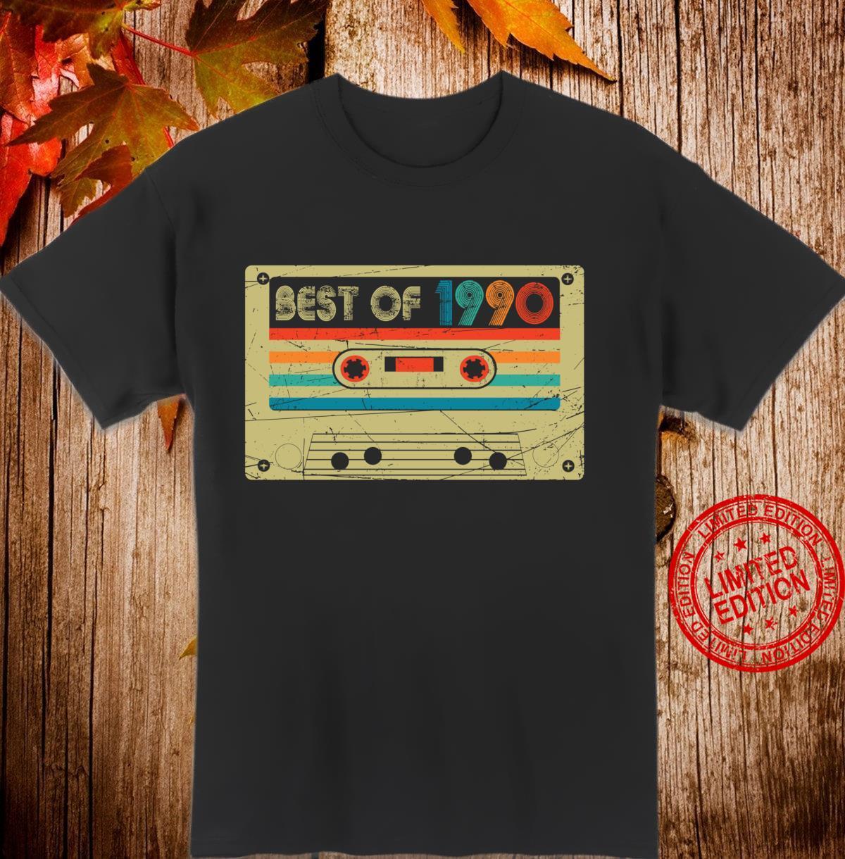 30th Birthday Vintage Best Of 1990 Retro Cassette Tape Langarmshirt Shirt