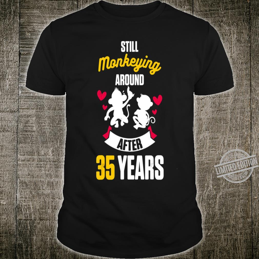 35th 35 Year Wedding Anniversary M Crewneck Shirt