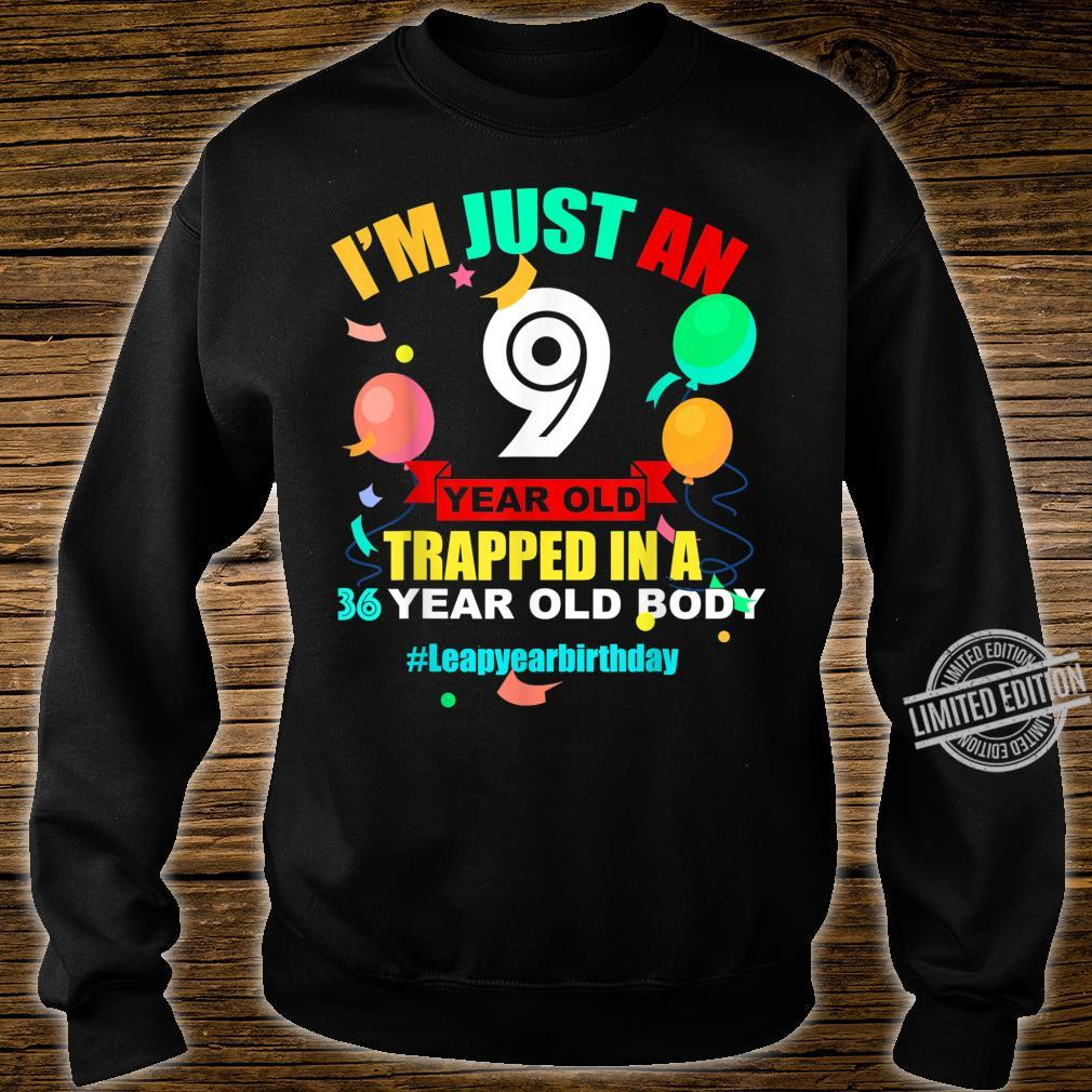 36 Year Old Birthday Leap Year February 29th 2020 Leap Day Shirt sweater