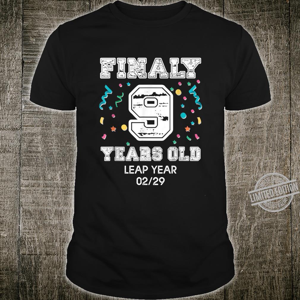 36 Year Old Birthday Shirt 2020 Leap Year Birthday Shirt