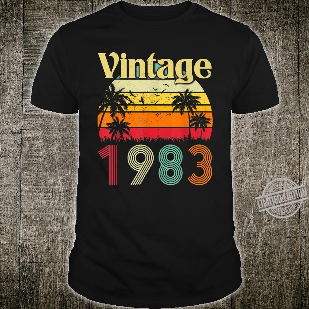 37th Birthday Vintage 1983 Classic Shirt