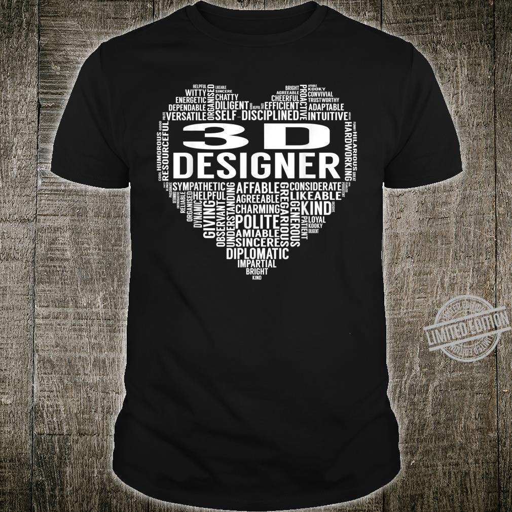 3D Designer Heart Shirt