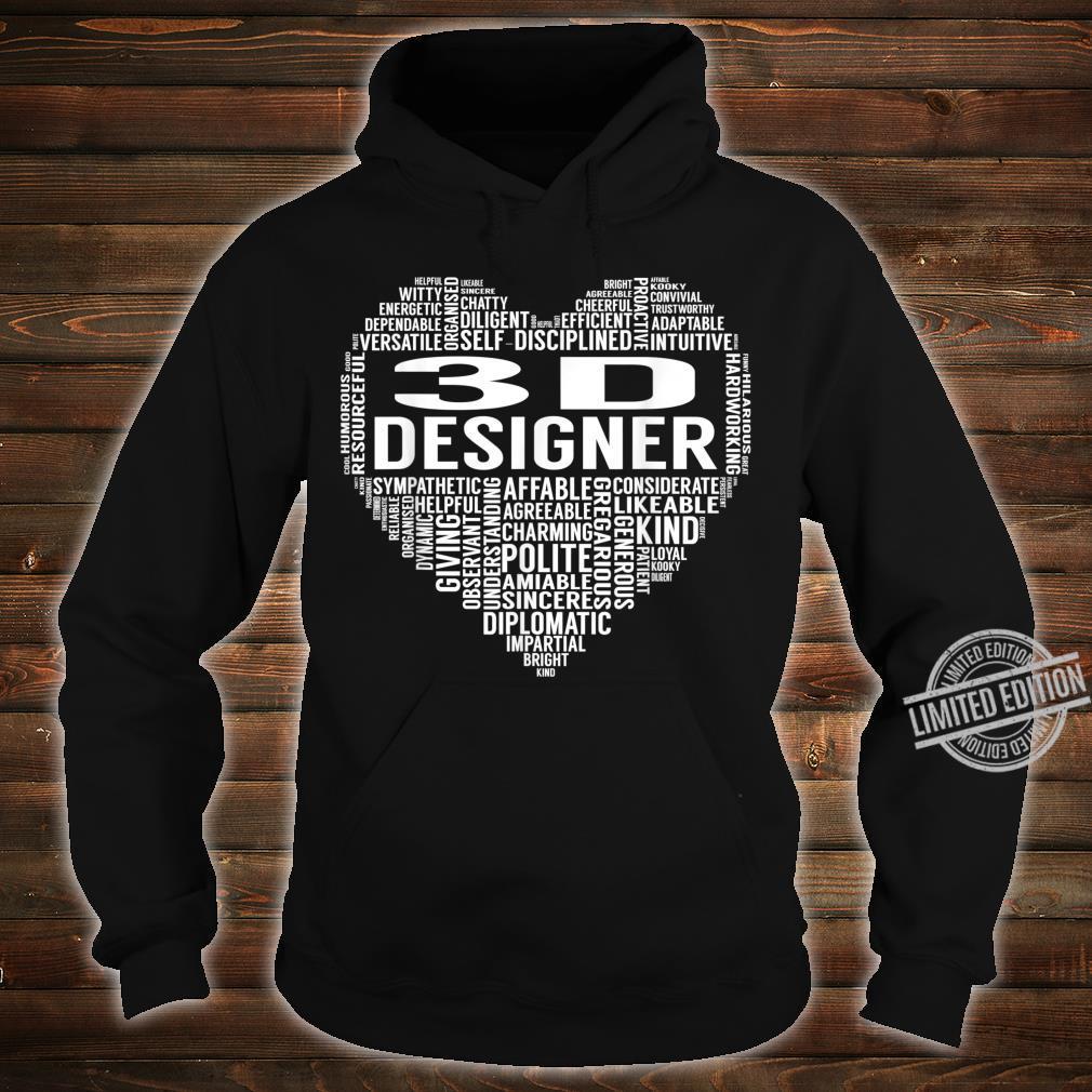 3D Designer Heart Shirt hoodie