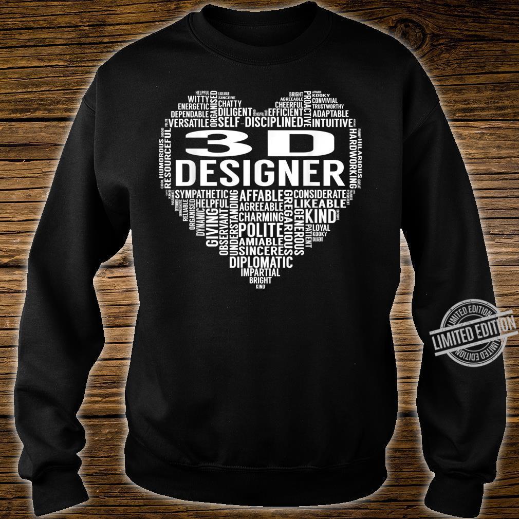 3D Designer Heart Shirt sweater