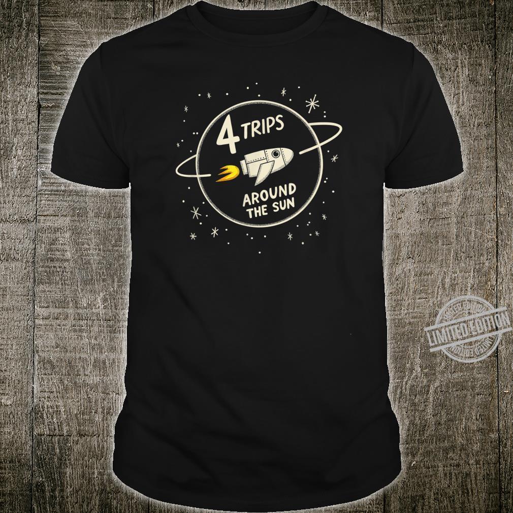 4. Geburtstag Kinder Raum Thema Shirt