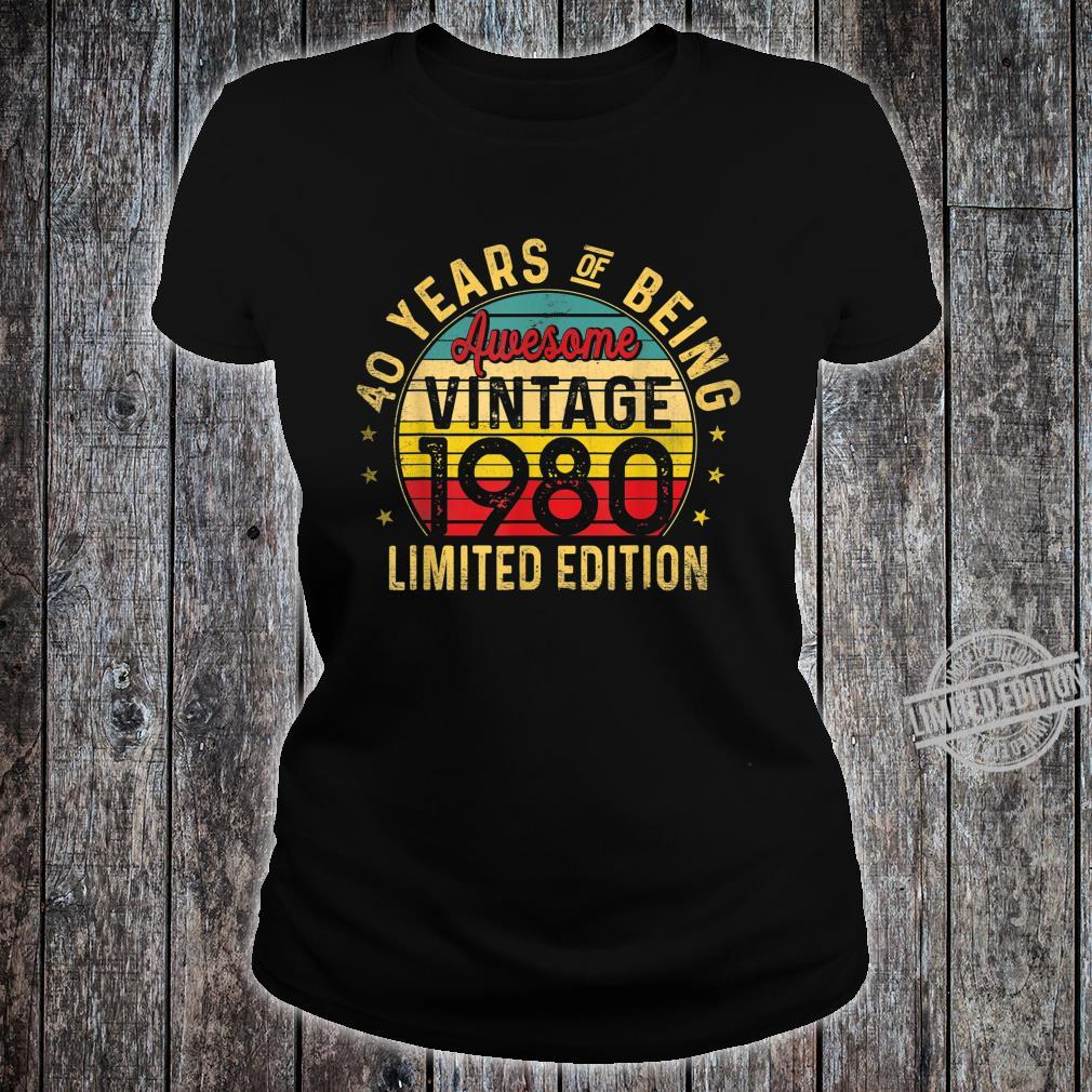 40 Year Old, Vintage 1980 Limited Edition 40th Birthday Shirt ladies tee