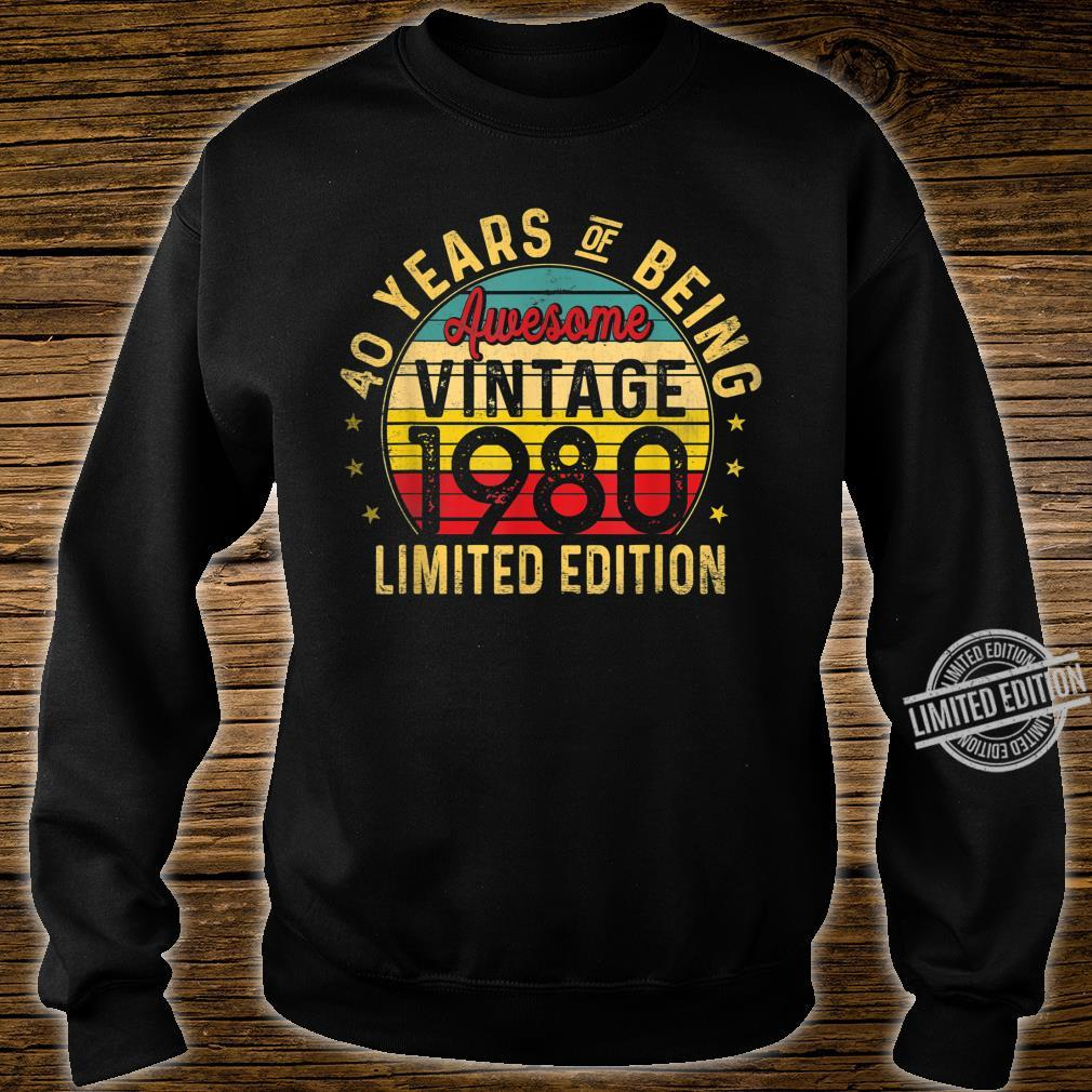 40 Year Old, Vintage 1980 Limited Edition 40th Birthday Shirt sweater