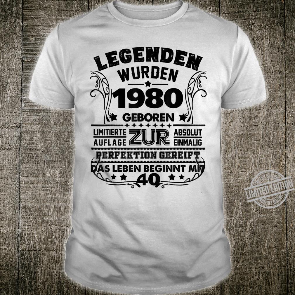 40. Geburtstag Geschenk Lustig Junge Mädchen1980 Party Shirt
