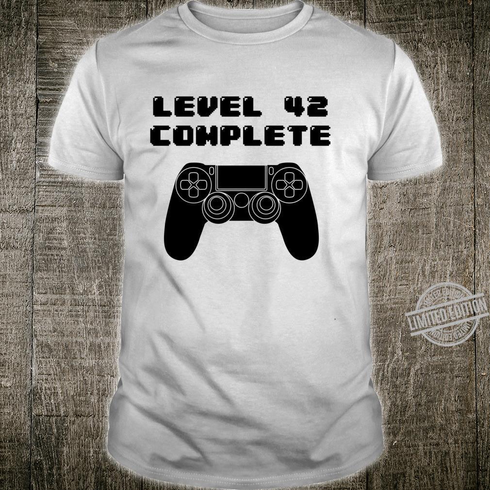 42nd Birthday Shirt 42 Years Old Video Gaming Shirt, Bday Langarmshirt Shirt