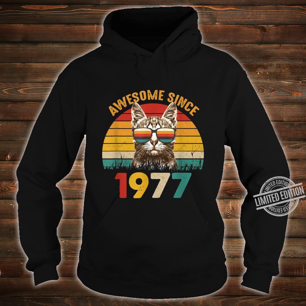 43. Geburtstag Vintage Cat Katze Awesome Since 1977 Geschenk Shirt hoodie