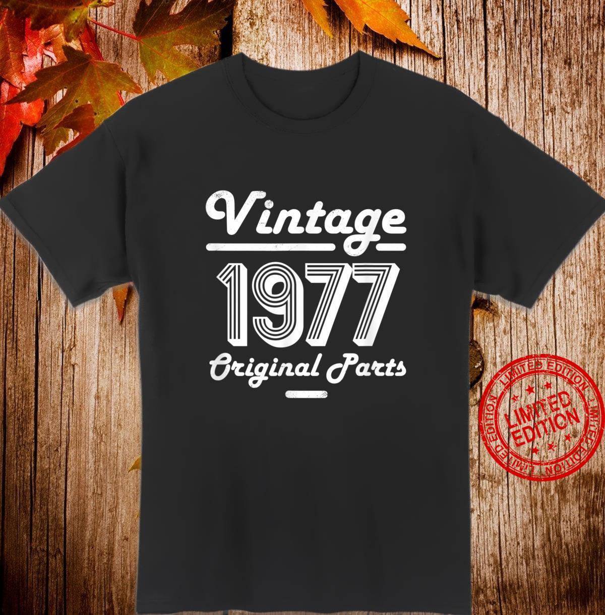 43rd Birthday Vintage Age 43 Year Old 1977 Shirt