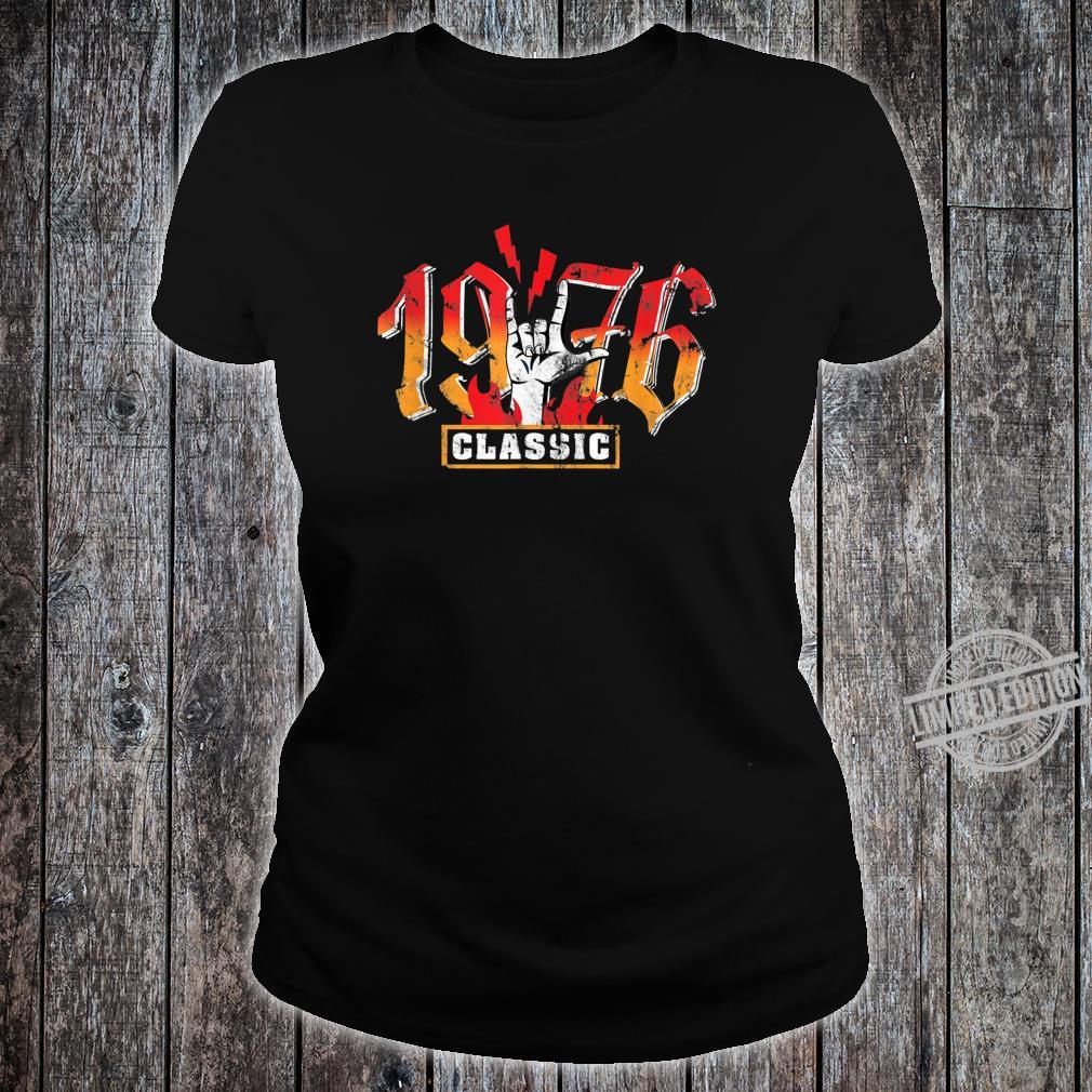 44th birthday vintage 1976 Classic Metalhand Shirt ladies tee
