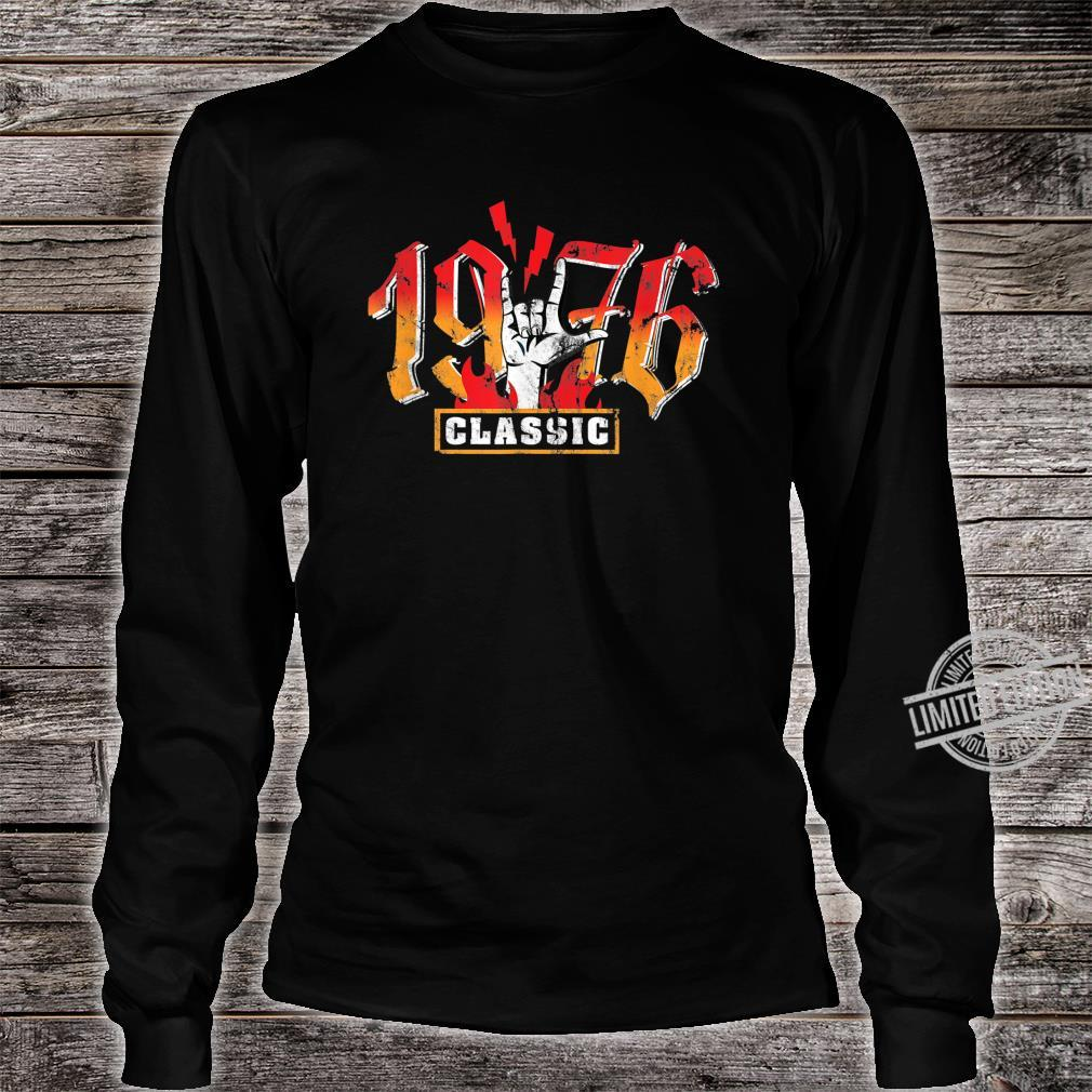 44th birthday vintage 1976 Classic Metalhand Shirt long sleeved