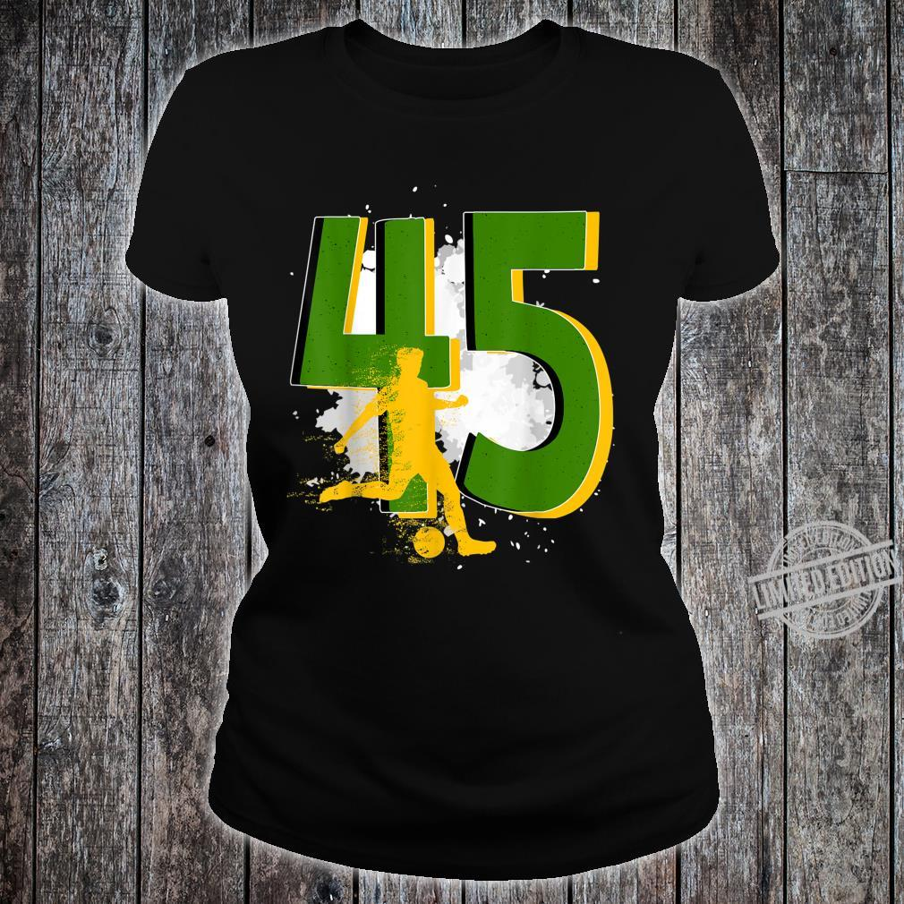 45th Birthday Soccer Player Awesome Born 1975 Shirt ladies tee