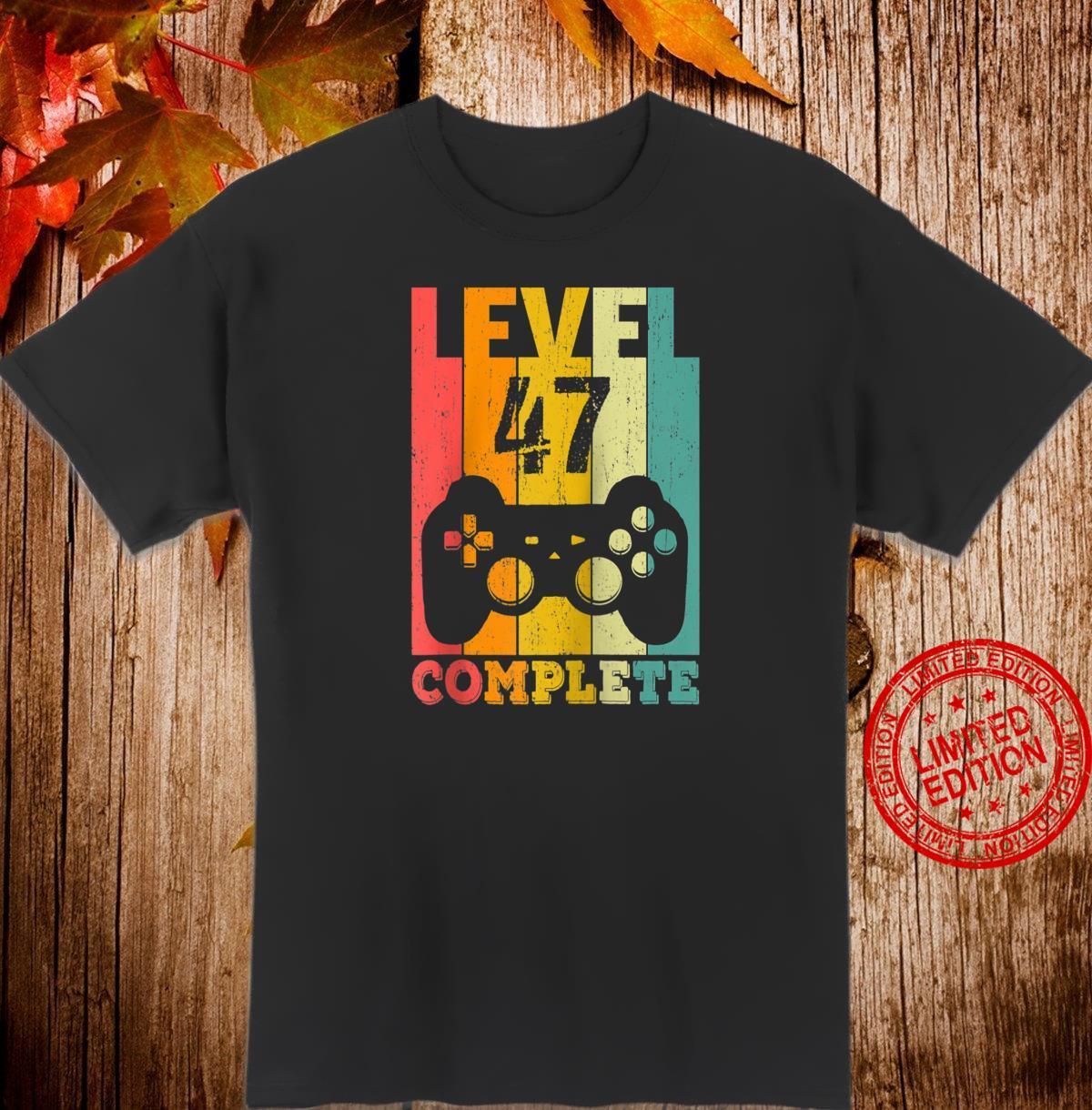 47th Birthday 47 Years Bday Level 47th Shirt