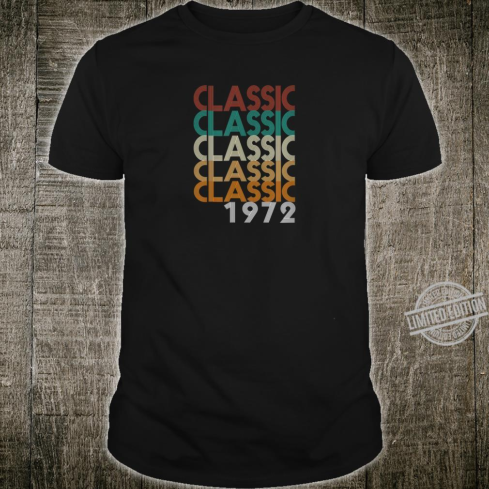 48 Years Old Made in 1972 Vintage 48th Birthday Shirt