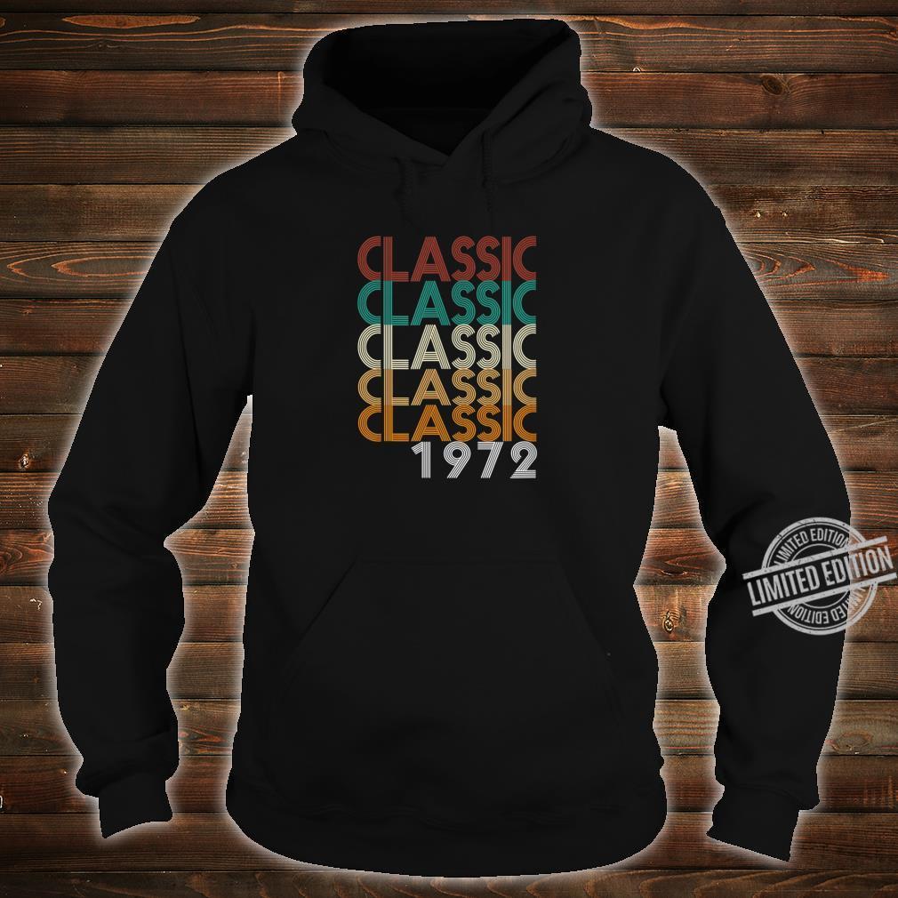 48 Years Old Made in 1972 Vintage 48th Birthday Shirt hoodie