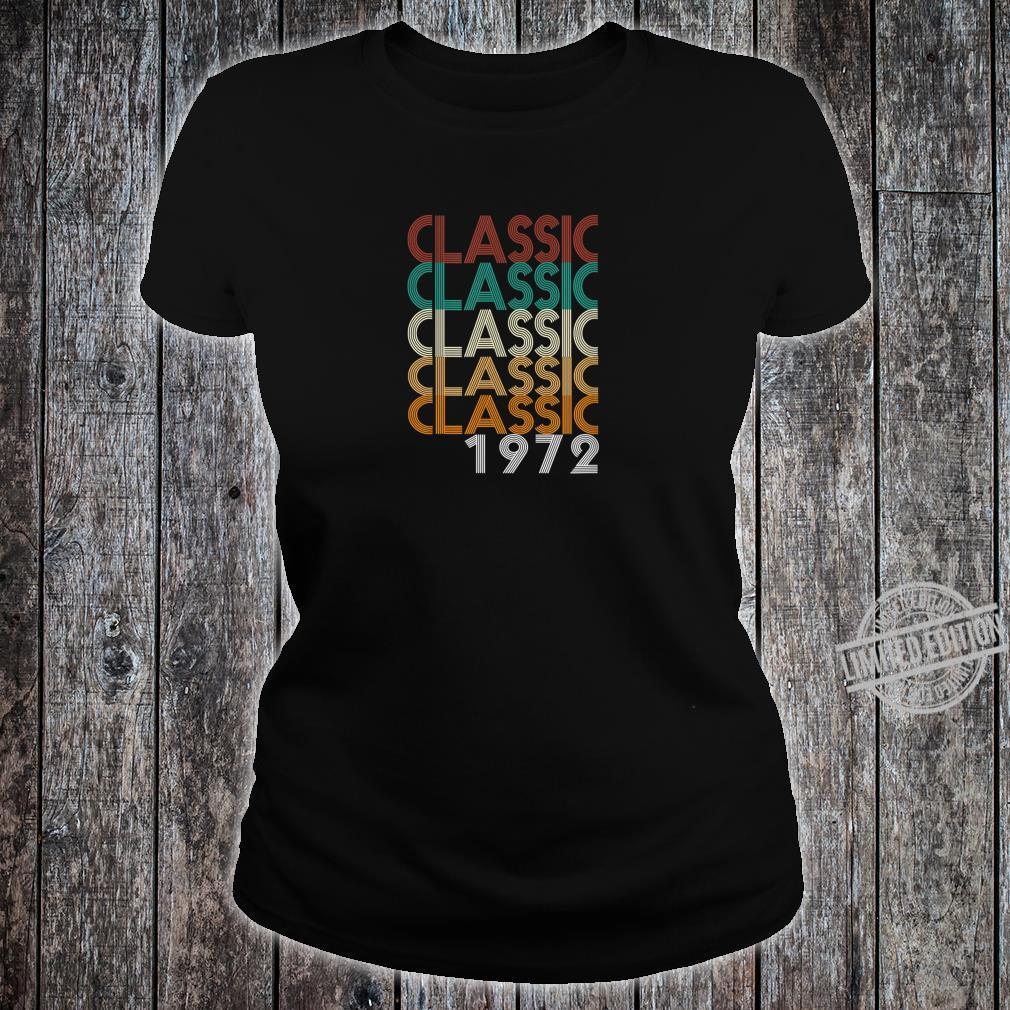 48 Years Old Made in 1972 Vintage 48th Birthday Shirt ladies tee