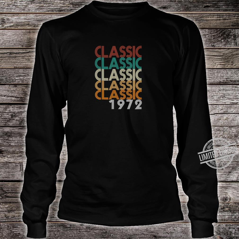 48 Years Old Made in 1972 Vintage 48th Birthday Shirt long sleeved
