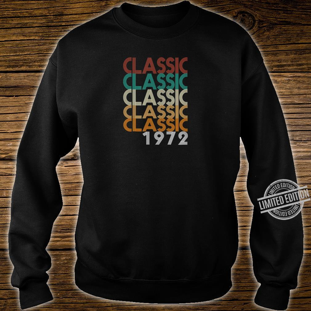 48 Years Old Made in 1972 Vintage 48th Birthday Shirt sweater