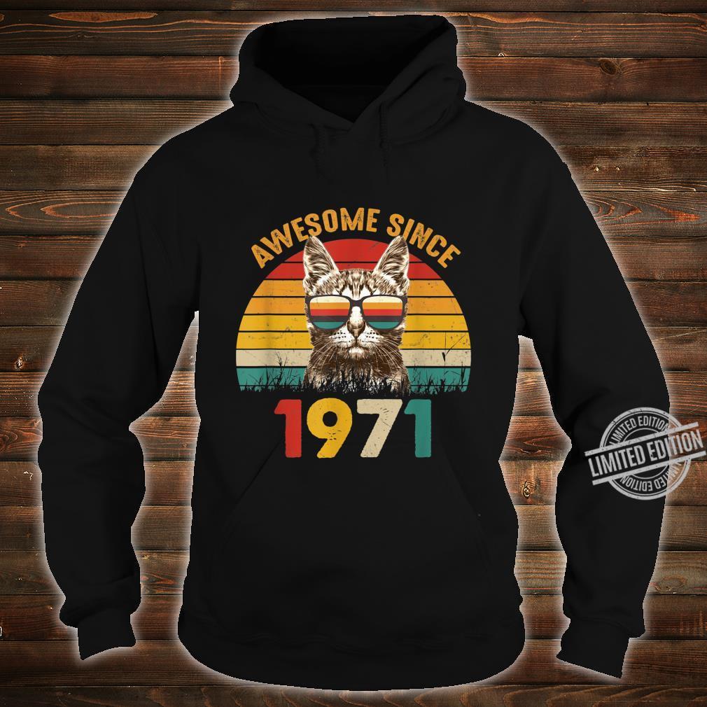 49. Geburtstag Vintage Cat Katze Awesome Since 1971 Geschenk Shirt hoodie